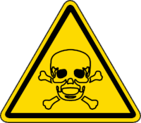 Toxic Material  can be life threatening if exposed to or consumed
