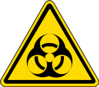 Biohazardous Materials  are any biological material (plant, animals) that pose a threat to any other organism's health (humans, other animals/plants)