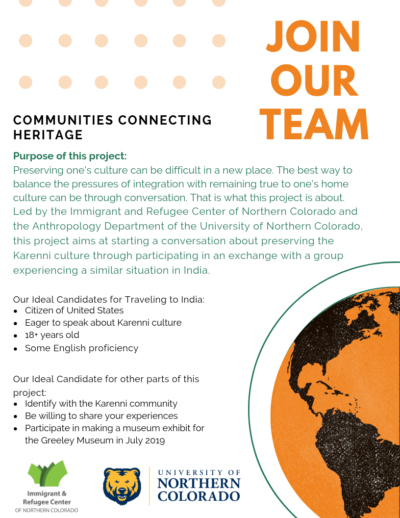 (Recruitment flyer for in-person exchange participants from the Karenni community)