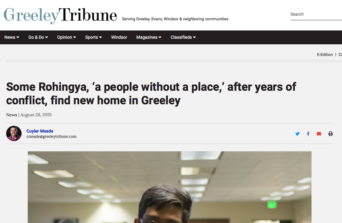 Rohingya Finding a Home in Greeley