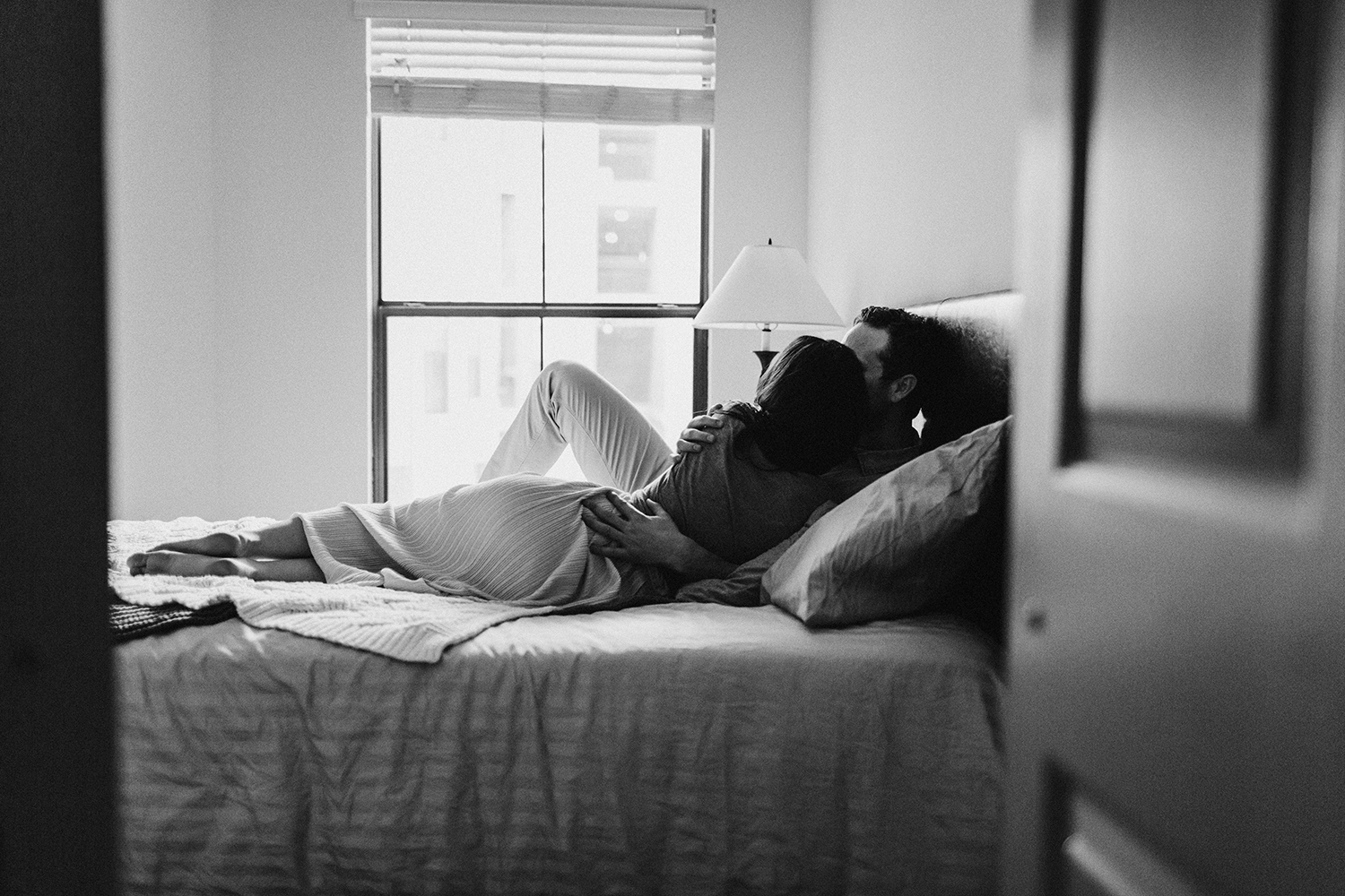 Intimate couple in home photography