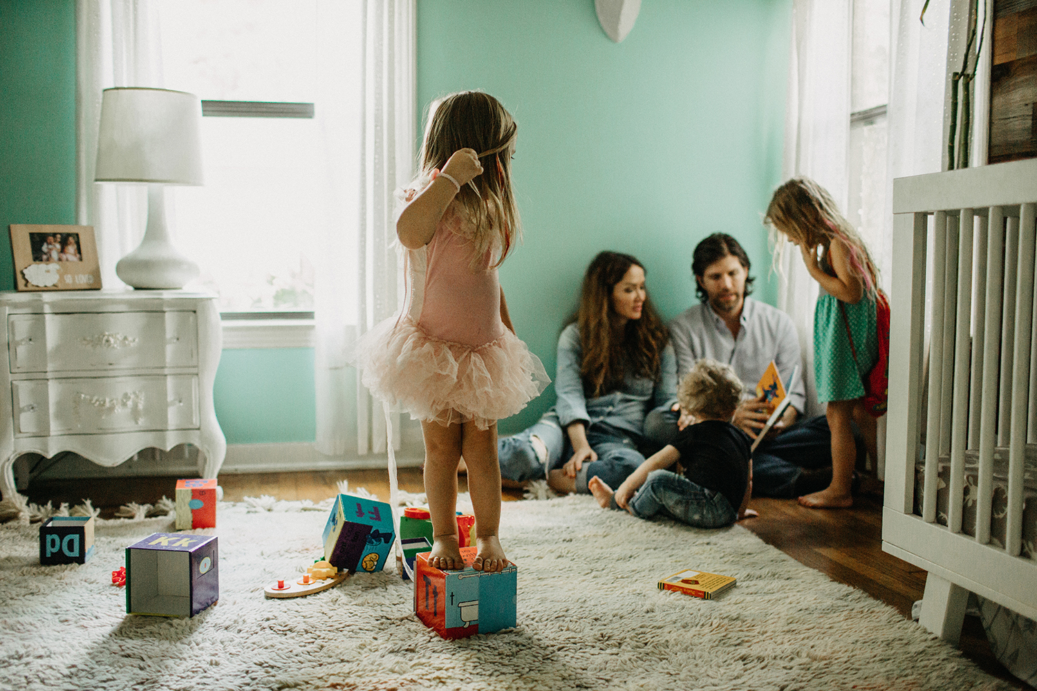 Family in home lifestyle session