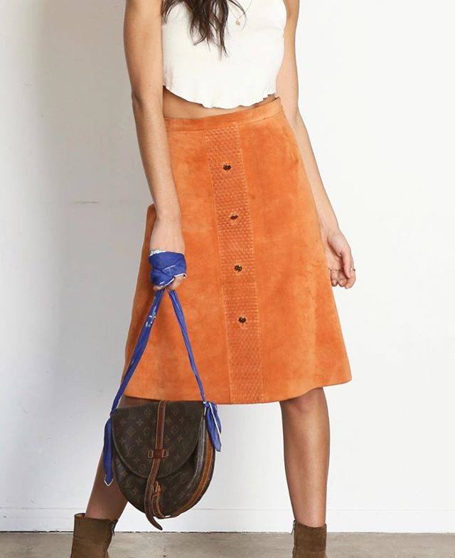 You probably need this 70's orange Gucci skirt 🍊  Today's the last day to enter our Valentine's Day giveaway!  Check two posts back for details! xx