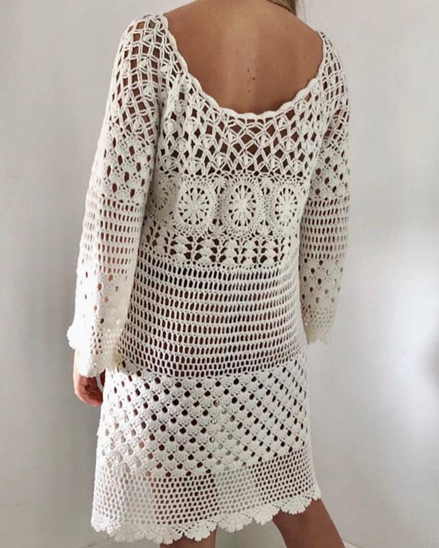 Vintage crochet dress- dm to purchase 🌼 $48
