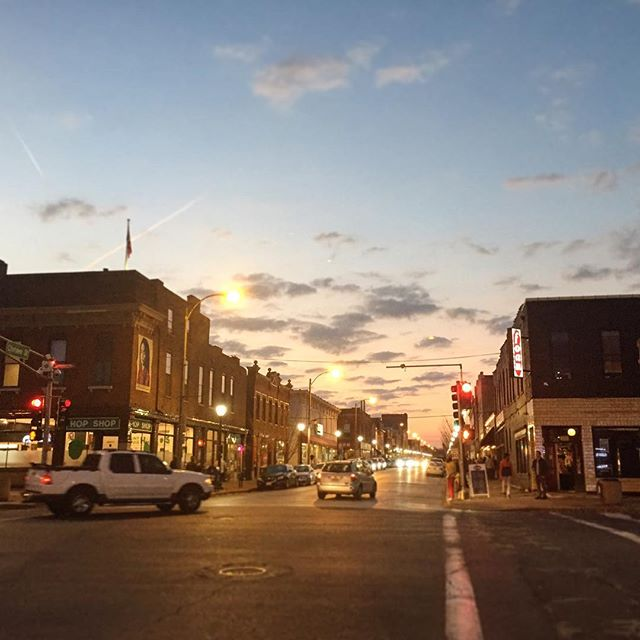 Captured this great sky as we left #cherokeestreetprintbazaar . . . #stlouis #stl #cherokeestreet #local
