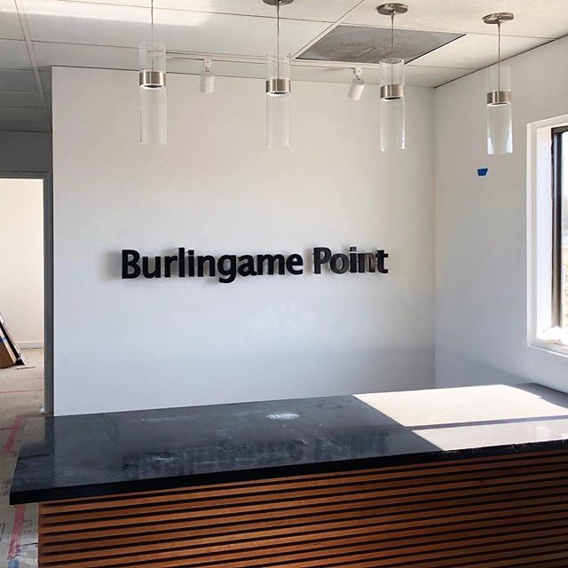 Happy Friday!! We're one step closer to completion!✔️ Can't wait to see the flooring and furniture installed! . . . . #interiordesign #design #officedesign #cleanandsimple #custommillwork #burlingame #california #fridayvibes