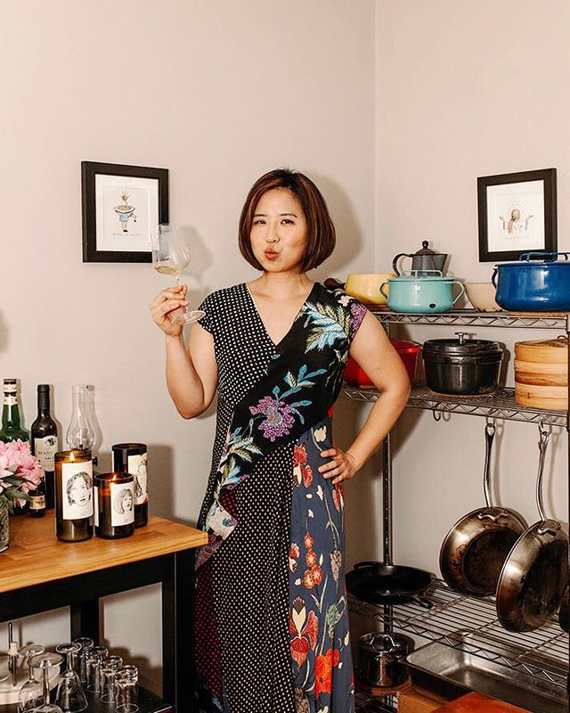 "according to @koreanfusion, ""natural wine is a natural fit for Korean food."" according to us, we agree 🍷⚡️ Seung Hee Lee is many things: a PhD'd epidemiologist, an expert on traditional Korean royal palace cuisine, and proponent of 'Everyday Korean' cooking (co-authored with @kimsunee) 🇰🇷 whether it's through her book or at her IRL pop-up dinners, the natty wine advocate is all about bringing the Seoul food of her youth to her new(ish) Atlanta #pineforpantry ✨  link in bio for more of Seung's kitchen recs, from why family-farmed Korean chili flakes to matriarch-produced strawberry gochujang 🌶 pics by @therosebowman"