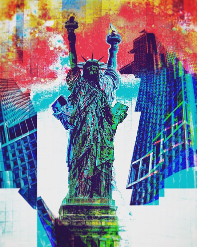 #ladyliberty got a bit #glitchedup #thisafternoon. She couldn't decide if she was #comingorgoing  #statueofliberty #libertyisland #whitehall #newyork #manhattan #politicalart #liberty  #glitchinthecity #minimalism #instaglitch #glitchartistcollective #glitch artists collective #abstractart  #bpa_arts  #wabisabiphotography  #theundergroundgalleryfeature  #glitch #glitchart #glitchartist #instaglitch #surrealism  #topnewyork #topnewyorkphoto  #newyorkphotographer #wabisabiart #glitchglue