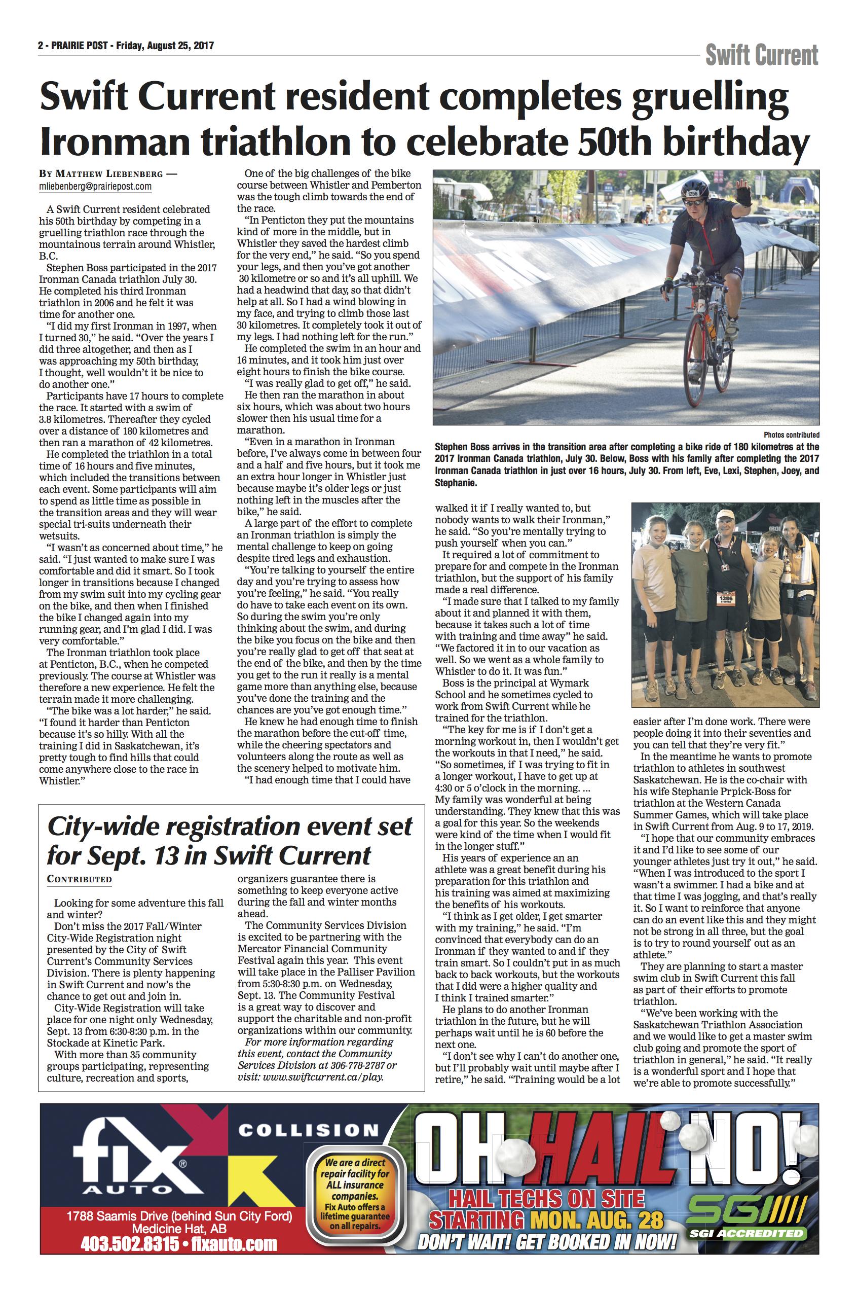 Stephen Boss 2017 Ironman Canada Whistler story in Prairie Post Edition 20170825_D24_02.jpg