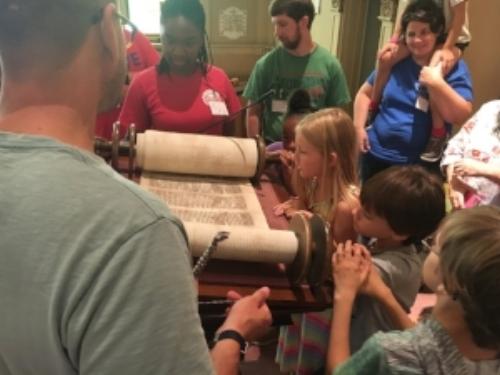 Community Camp kids with Torah image1.JPG