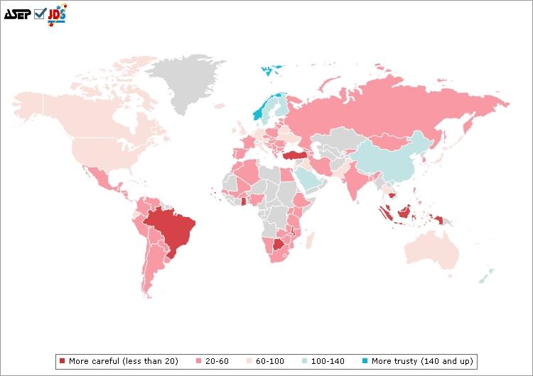 Image shows levels of interpersonal trust (http://www.jdsurvey.net/jds/jdsurveyMaps.jsp?Idioma=I&SeccionTexto=0404&NOID=104)