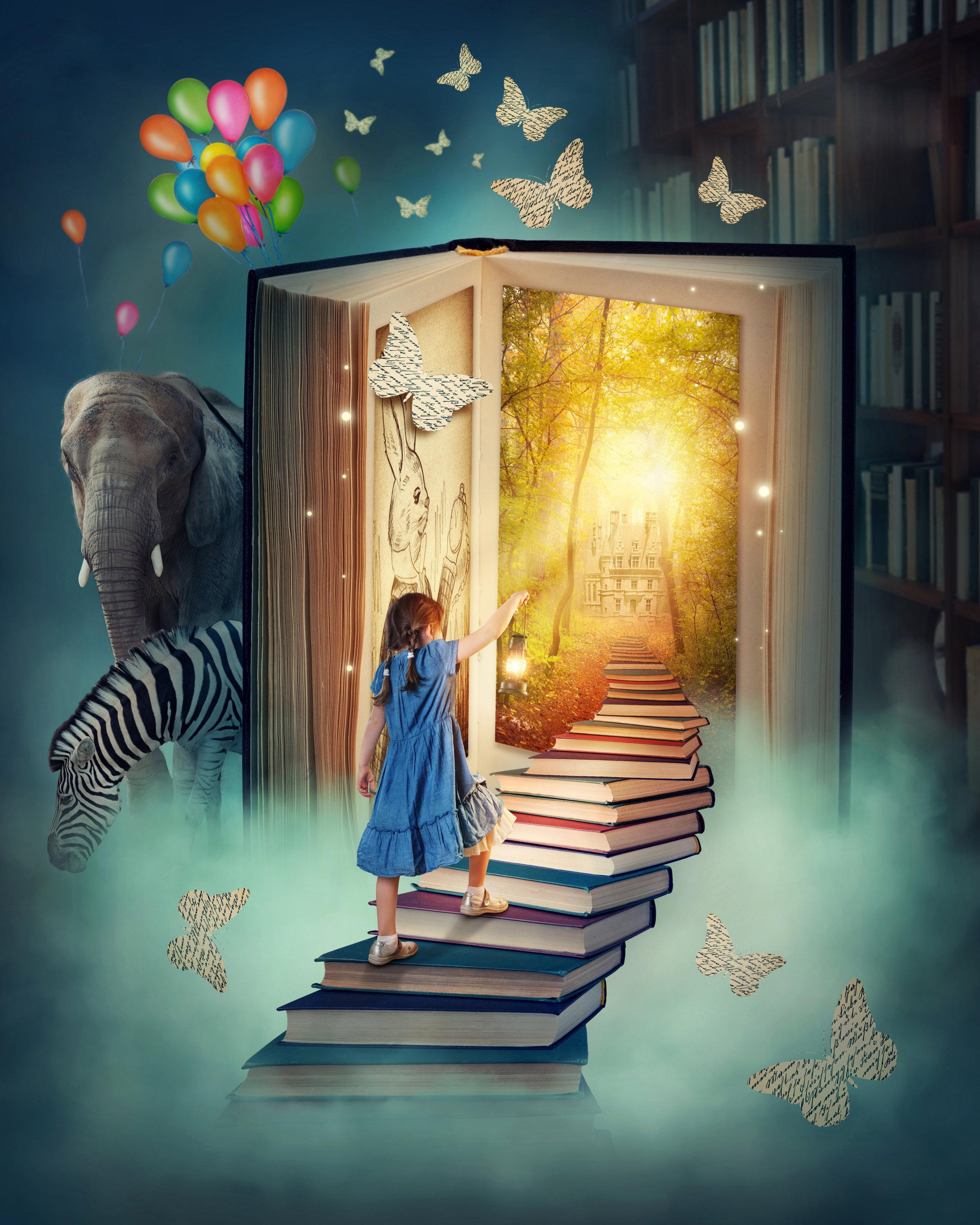 Shutterstock image - (https://www.shutterstock.com/image-photo/little-girl-walking-stairs-magic-book-124521184?src=JGWOTJssCqOKGms0dsDq9Q-1-12)