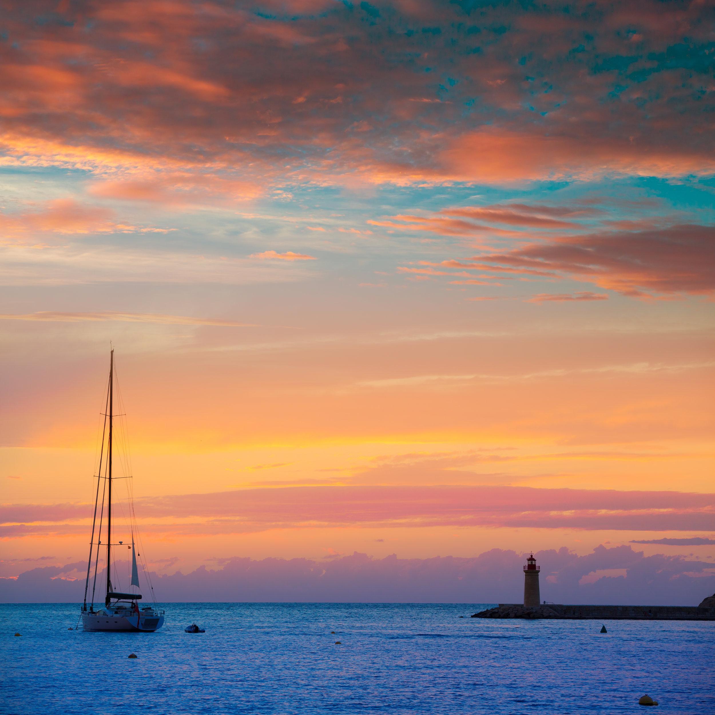 Sunset at Mallorca port de Andratx sunset, Mallorca , Balearic Islands, Spain