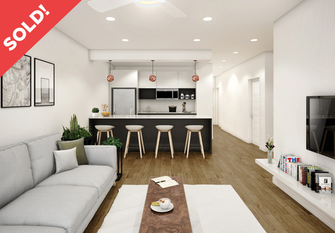 171 Eagle Street: 3F - $695,000 // 1 Bed // 1 Bath // 628 SQFTGraced with contemporary finishes and a private balcony, this brand new 1-bedroom, 1-bathroom condo maximizes space and functionality. Features of this 628 sq. ft. home include an in-unit washer/dryer, beautiful hardwood floors, and a modern open plan layout.