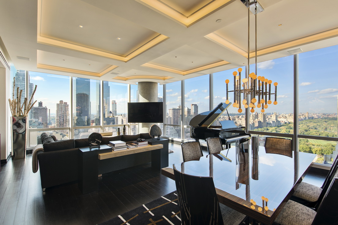 157 West 57th Street: 39B - $9,950,000 // 2 Beds // 2.5 Baths // 2,145 SQFT Turn-key and perched on the corner of the 39th floor with FULL Central Park views, this home has undergone extensive renovations and customizations to create the ultimate, fully modernized and automatic home.