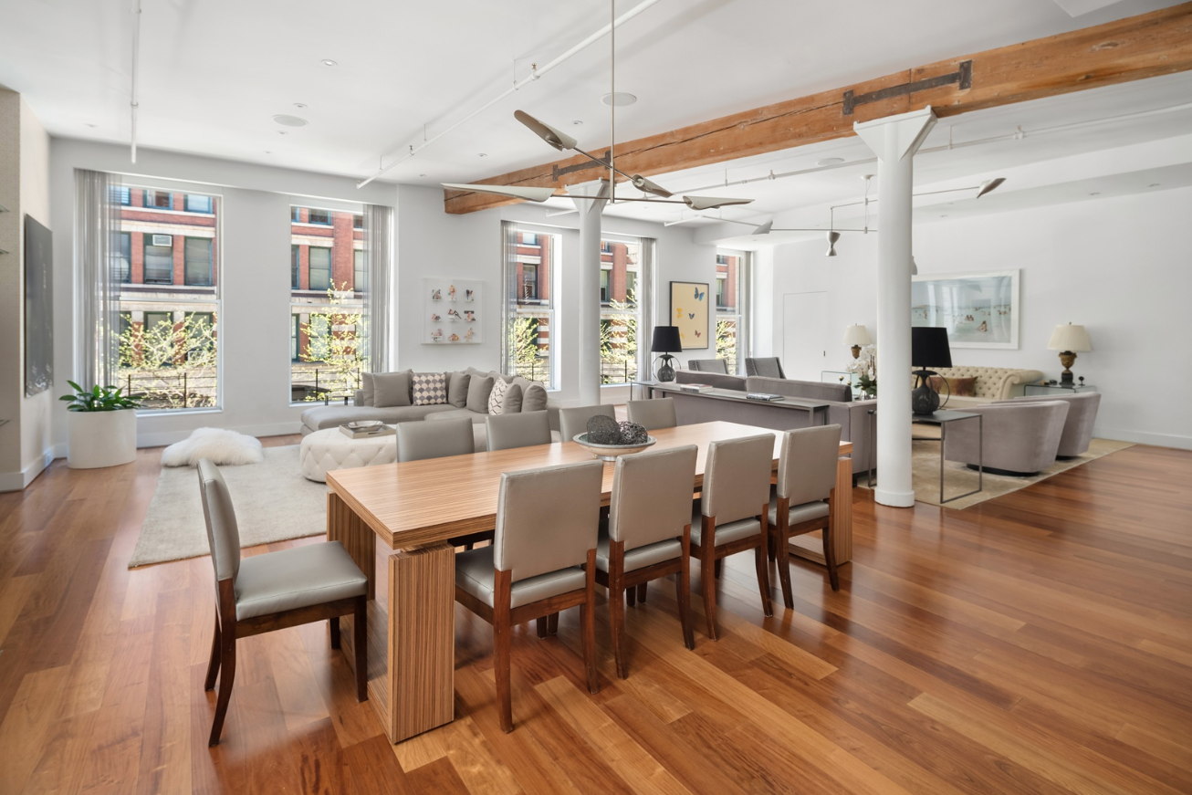 258 LAFAYETTE STREET, 2A - $8,400,000 // 3 Beds // 3.5 Baths // 3,910 SQFT // 469 EXSFIdeally located in a premier full-service building the heart of Soho/NoLiTa, Apartment 2A at 285 Lafayette Street is a beautifully renovated condo loft with approximately 3,910 square feet of expansive indoor living space with 3 bedrooms, 3.5 baths, plus a staff room, and a large approximately 469 square foot private terrace.