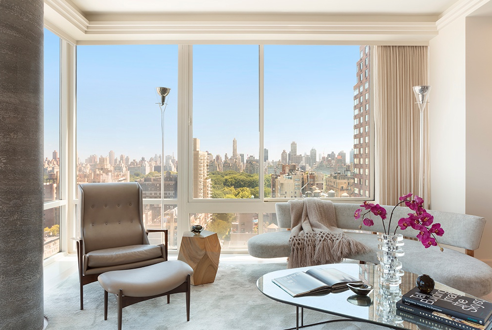 111 WEST 67TH STREET, 25D - $13,995,000 // 5 Beds // 4.5 Baths // 3,818 SQFTMasterfully designed corner home with sweeping views of Central Park and the city skyline, this stunning 5-bedroom, 4.5-bathroom condo is a testament to contemporary Manhattan luxury. Features of this breathtaking 3,818 sq. ft. condo include airy 10-ft ceilings, floor-to-ceiling windows with incredible views from every room, gorgeous hardwood floors, a collection of chic light fixtures, motorized shades, security cameras, an in-home washer/dryer, two entrances, and an integrated Crestron home automation system.