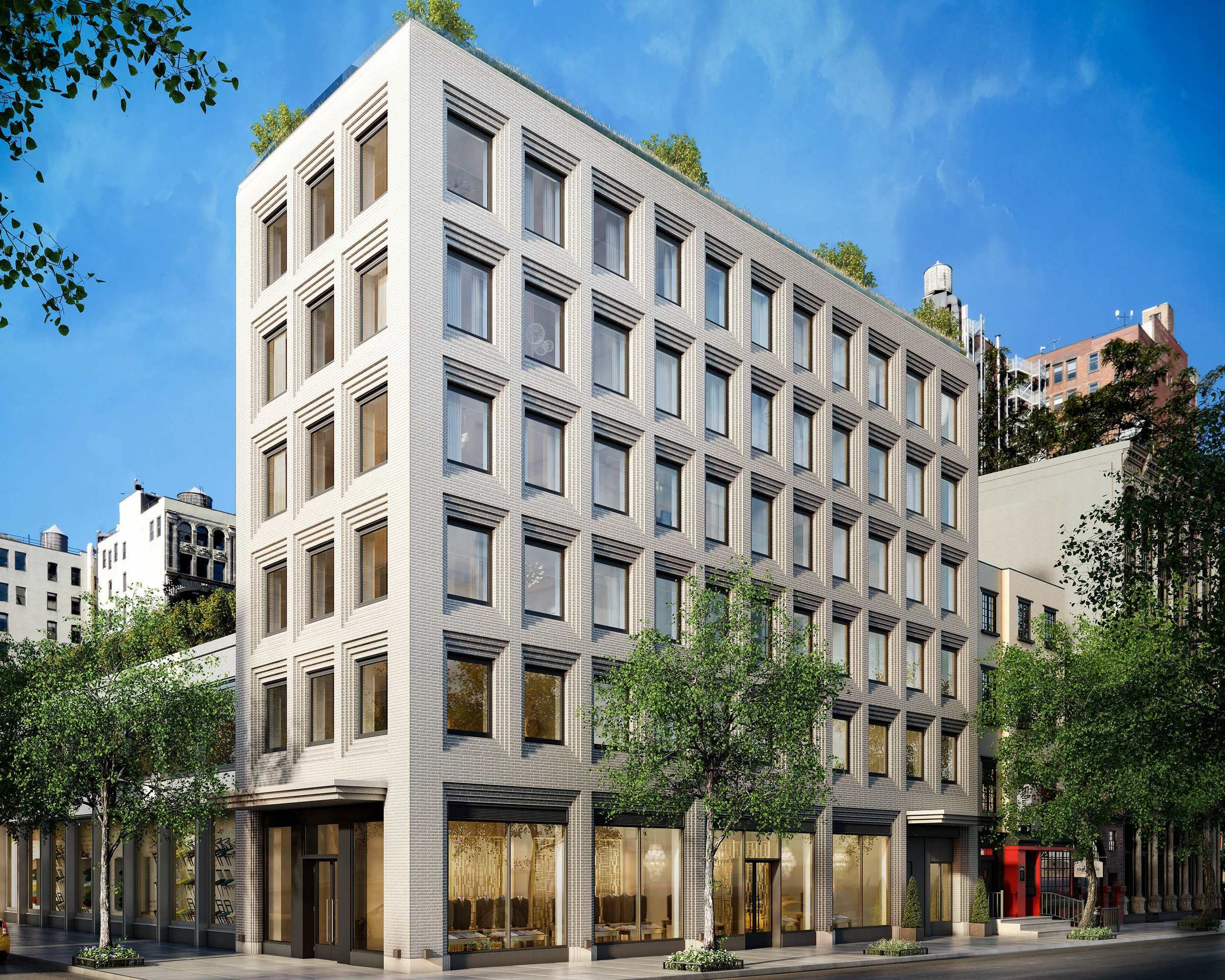 116 UNIVERSITY PLACE - SOLD OUT — $6,995,000 - $9,950,000Nestled just a block away from Union Square, 116 University is a brand new boutique condominium offering five full-floor residences that redefine contemporary Greenwich Village luxury. Designed by experienced firm, Morris Adjmi Architects, the building is a modern expression of the historic neighborhood in which it sits. The façade in particular, with its use of corbelled brick windows, is a nod to the studio windows that were added to houses and apartments when the Village was the domain of artists and bohemians.