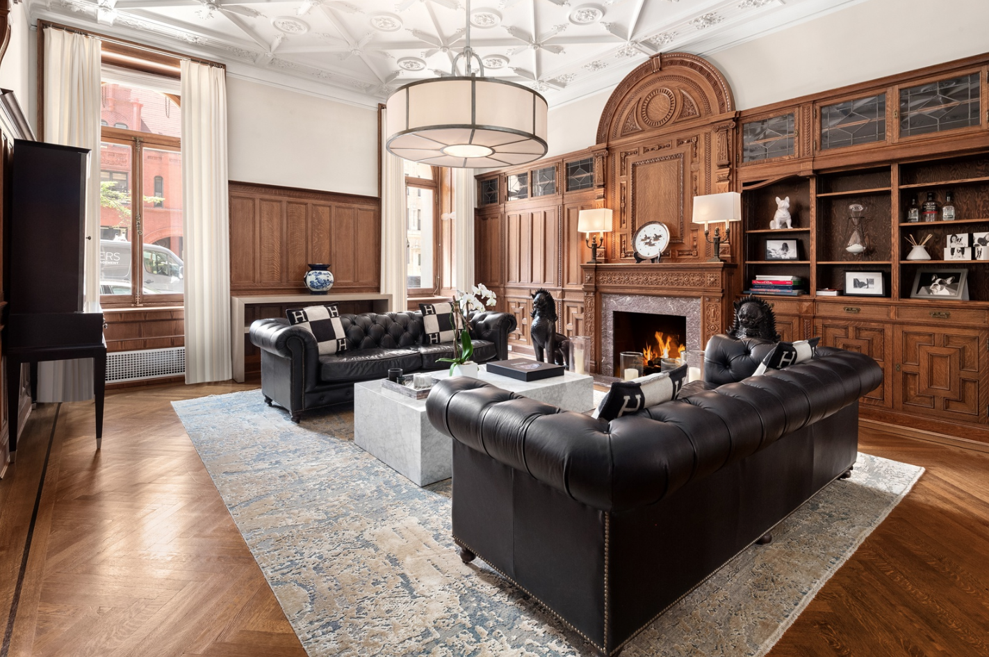 390 WEST END AVENUE, 1F/2F - $9,995,000 // 4 Beds // 3.5 Baths // 4,200 SQFTA mint-condition duplex condo nestled a block away from Riverside Park in the landmarked Apthorp building. Features of this apartment include a Crestron Home Automation System, a host of restored original details that include elegant herringbone hardwood and terrazzo-tiled floors, tall arched windows with eastern and western exposure and much more!