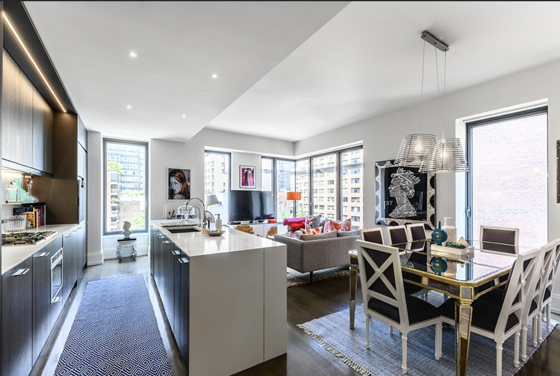 301 EAST 50TH STREET, 6C - $2,499,000 // 2 Beds // 2.5 Baths // 1,459 SQFTA beautifully-designed Turtle Bay condo graced with elegant finishes and an abundance of natural light, this home is a portrait of modern city luxury. Features of this 1,459 sq. ft. apartment include gorgeous wide plank oak flooring, airy 10-ft ceilings, huge soundproof Low-E windows with motorized shades, a multi-zone heating and cooling system, northern, western, and eastern exposure, and a side-by-side washer/dryer from Bosch.
