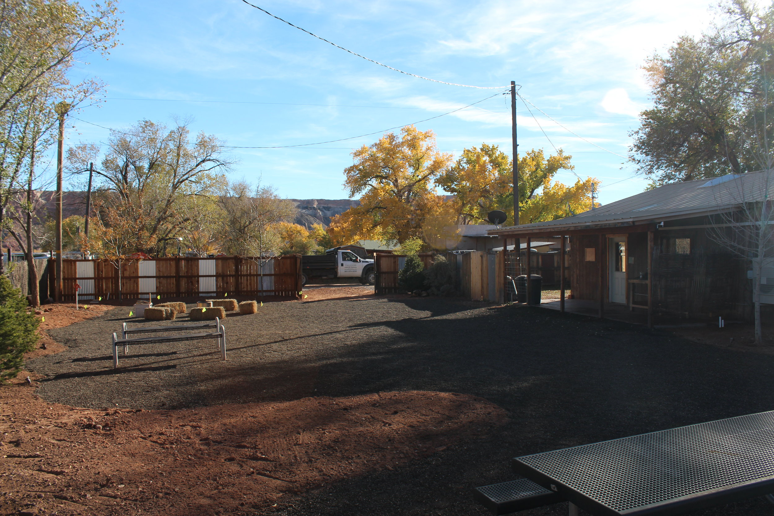 Nearly completed donation project by Kappus Landscape Sprinkler at the Bear's Ears Visitor Center in Bluff, Utah.