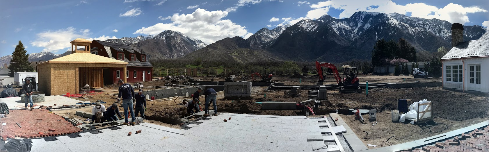 "Large Scale project going on at the base of the amazing Wasatch Mountains. We usually wait to post the ""after"" photos, but it's fun to see our crews hard at work during the process, too!"