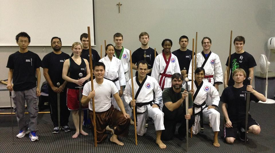A joint class of the Salle Saint Louis and SLU Karate