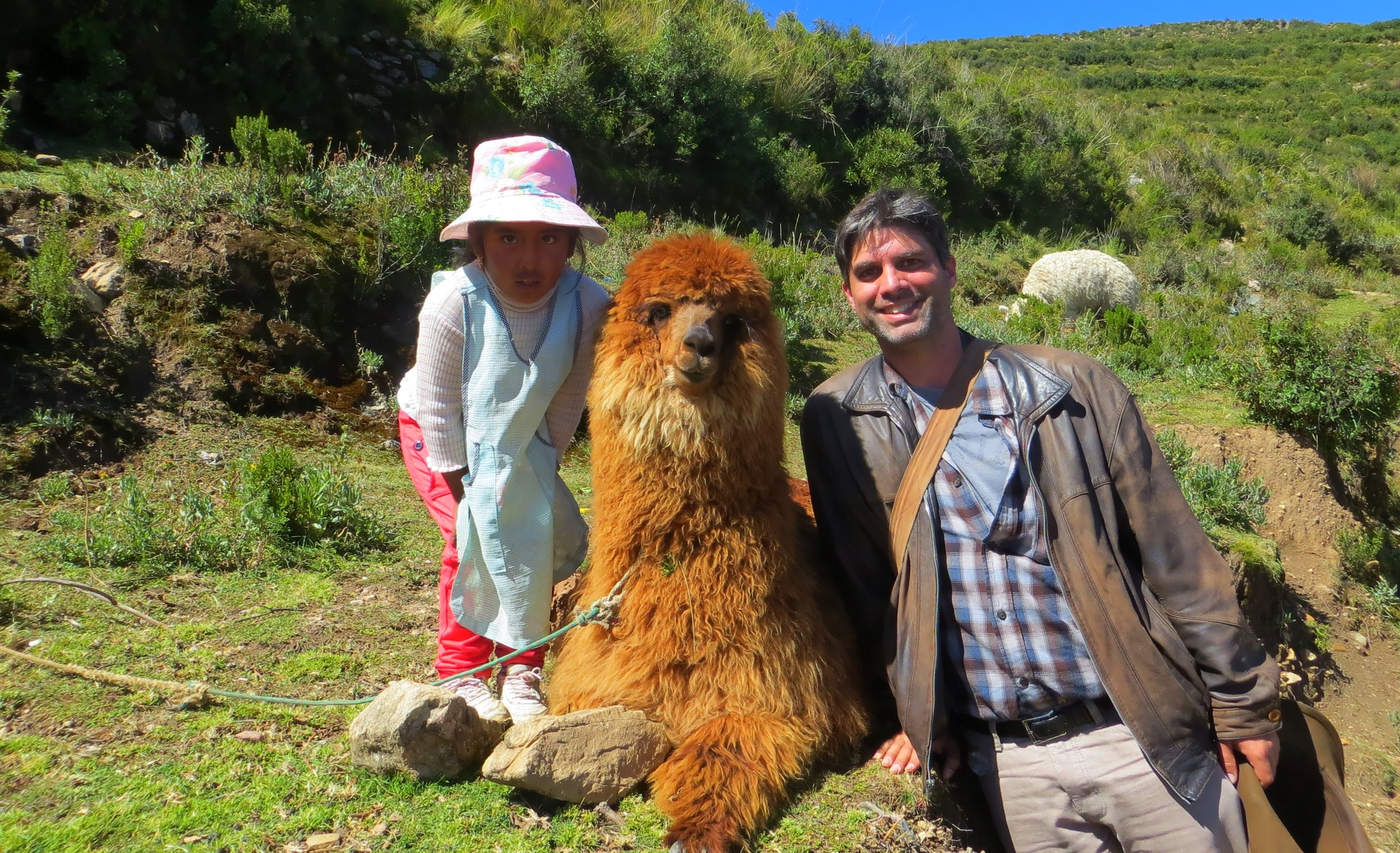 Of course, you'll have to leave behind winter - to go to the Caribbean beach, and to climb volcanoes and explore ruins and hear local music and taste local foods.The team professor on the Isla del Sol, Lake Titicaca, Bolivia.