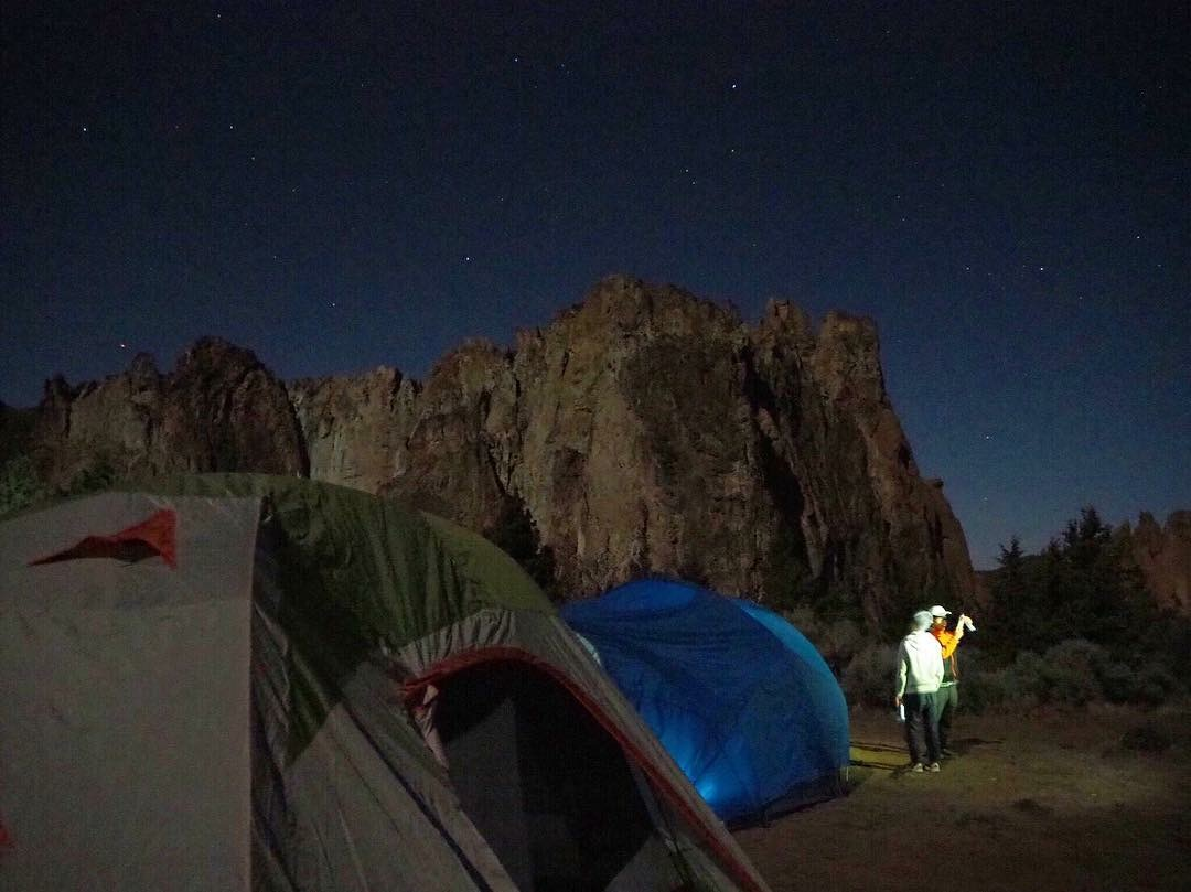Camping site with starry skies. Photo courtesy of Katie Gavares.
