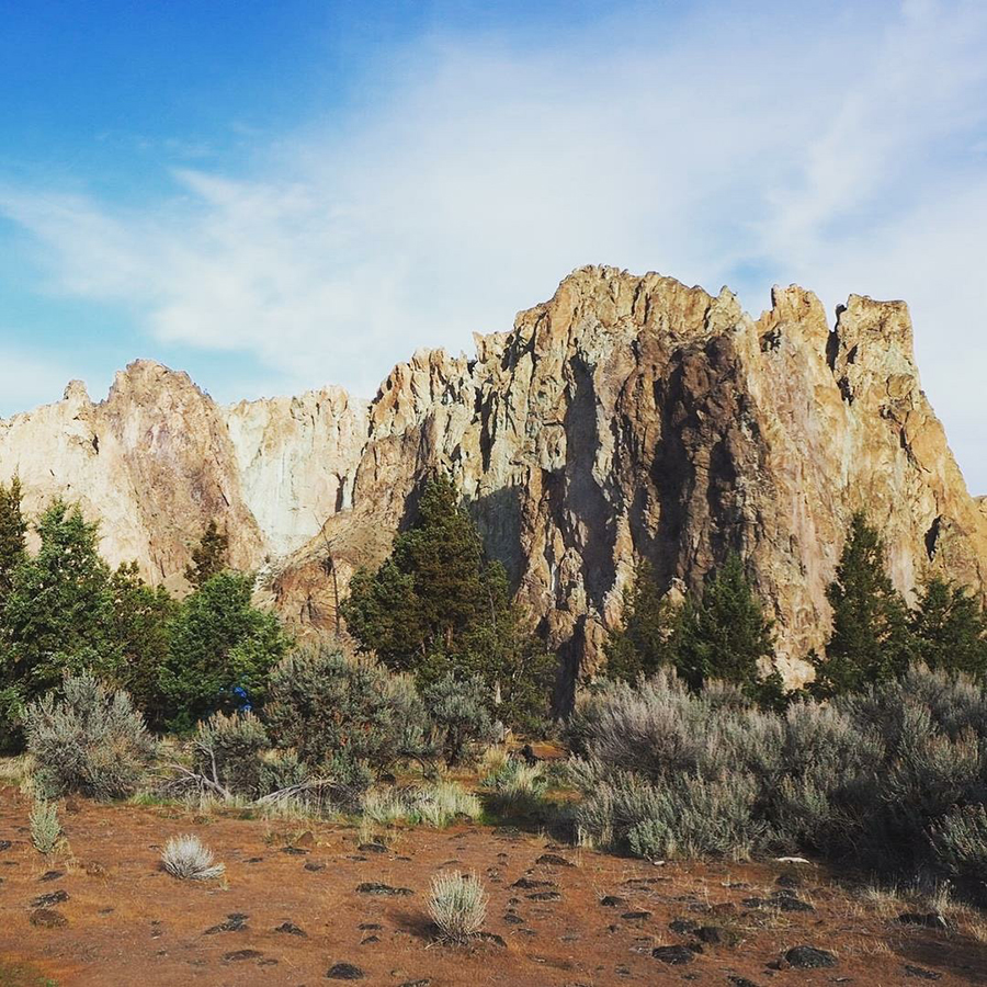 Smith Rock landscape. Photo courtesy of Katie Gavares.