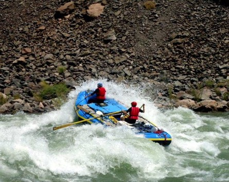"""Rafters on Hermit Rapid"" photo courtesy of Sarah Alexander."