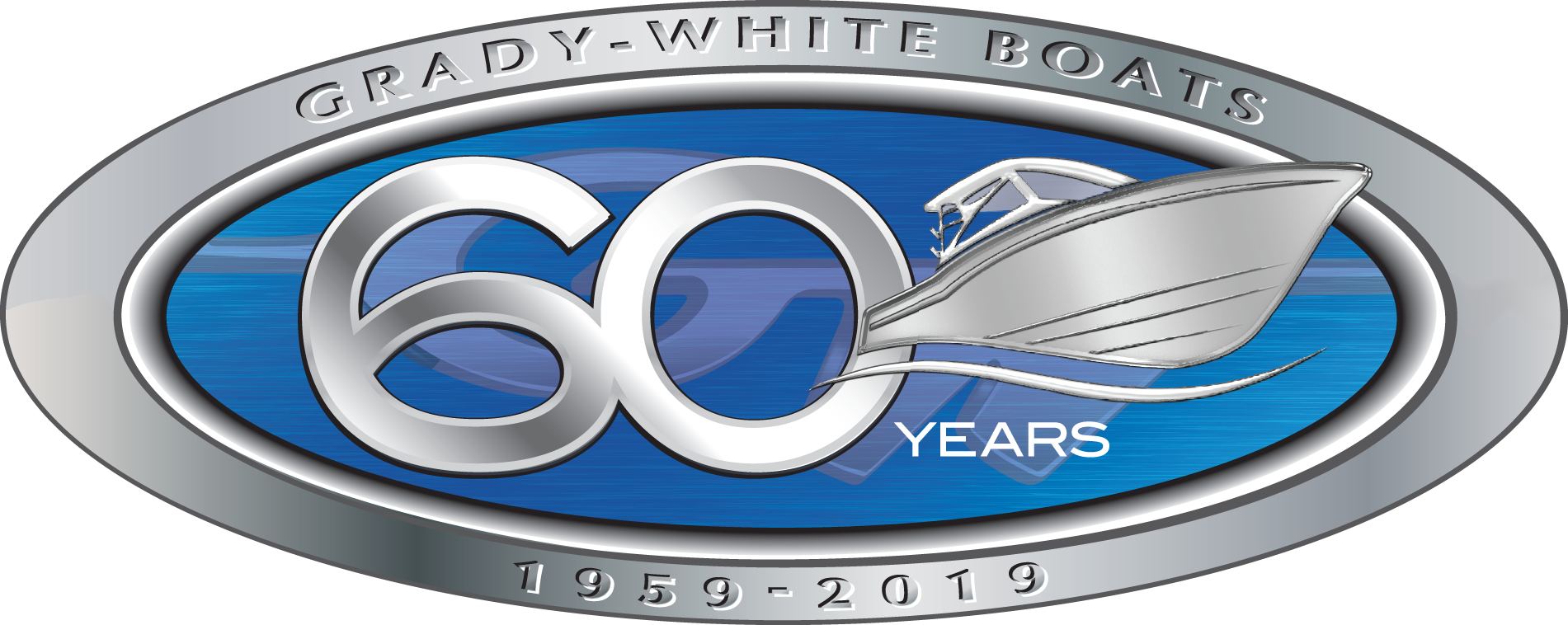Grady-White Boats 60th Anniversary logo