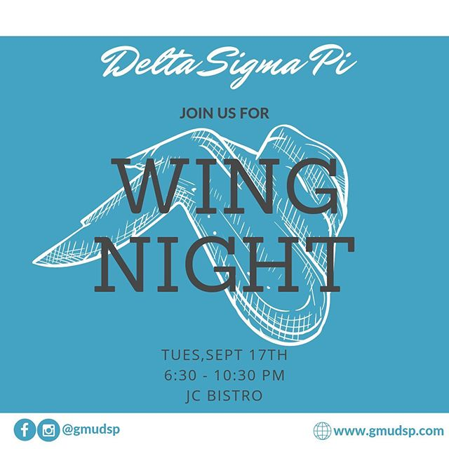 🗣 Come out tomorrow to the JC Bistro from 6:30 - 10:30 pm for a chance to mingle and bond with Brothers over wings! Can't wait to see you there!