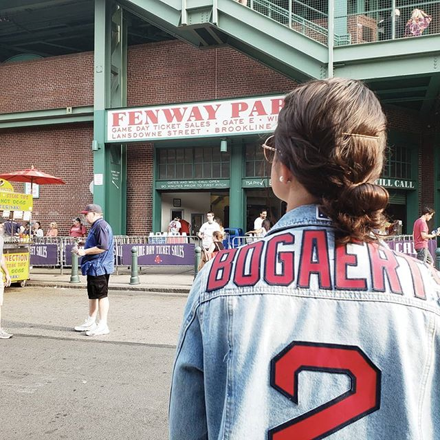 No one I'd rather be at Red Sox games at than this one right here