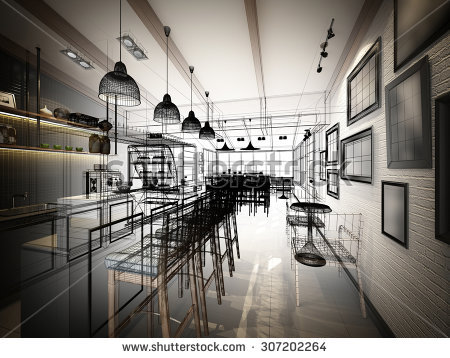 stock-photo-sketch-design-of-coffee-shop-d-wire-frame-render-307202264.jpg