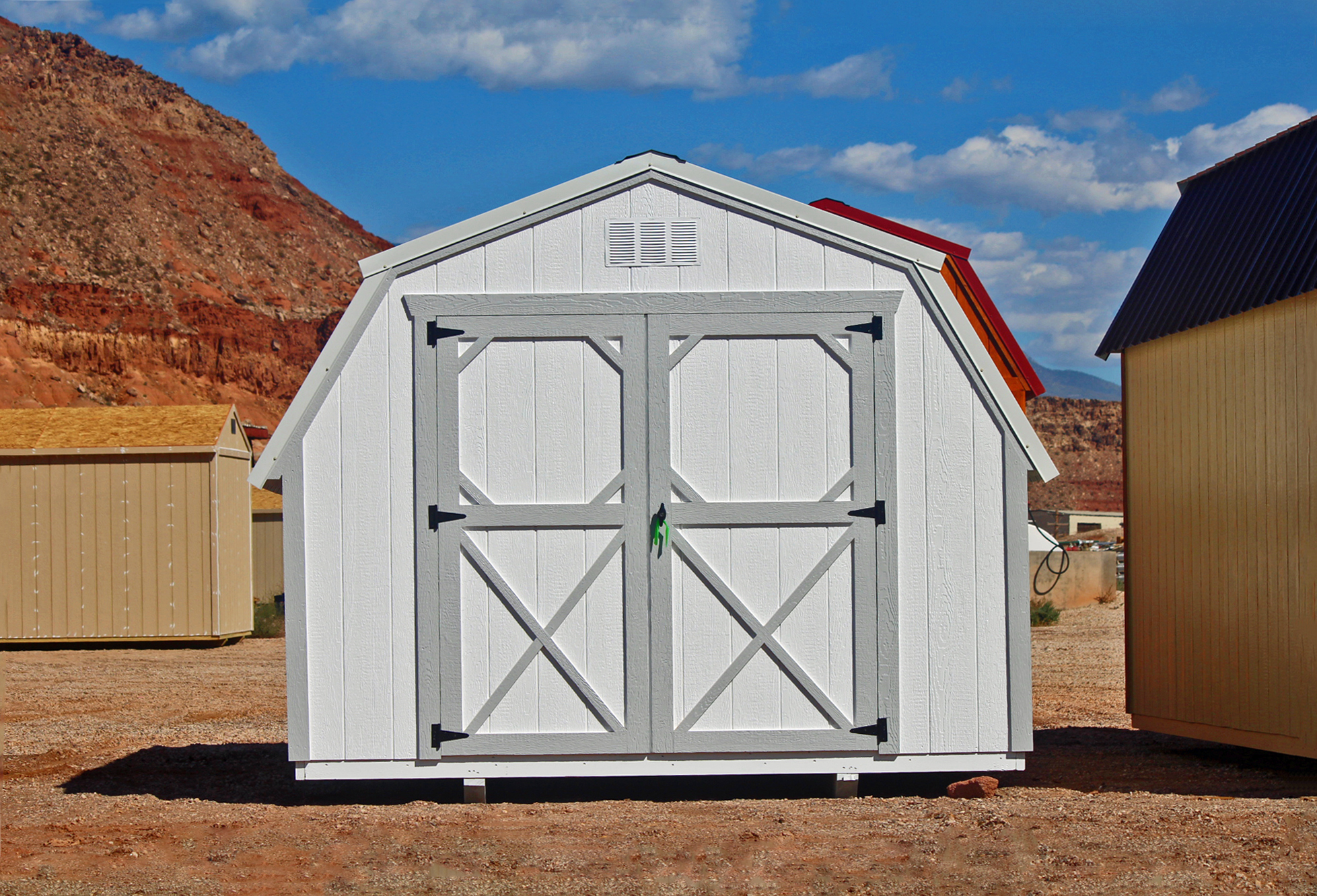 Painted standard small Barn - Vegas Sheds