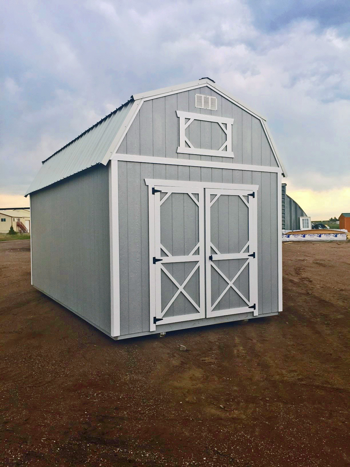 White Lofted Barn - Vegas Sheds