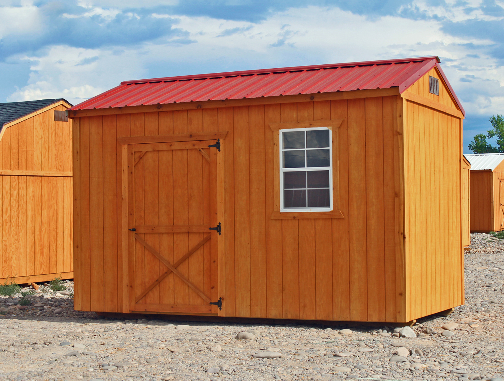 Stained Side Utility Building - Painted Side Utility Shed - Vegas Sheds