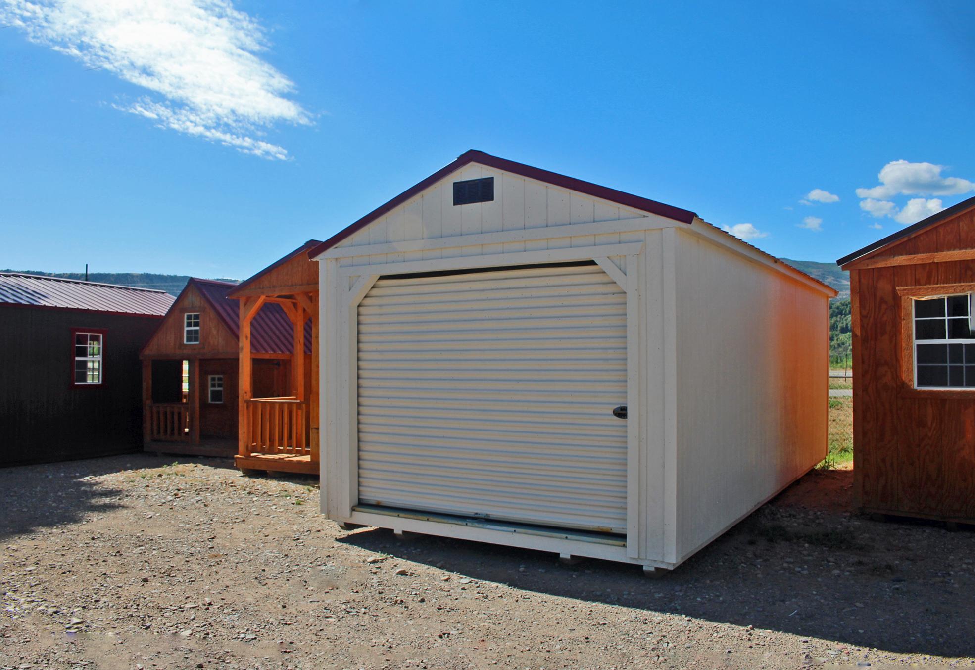 White Garage - Vegas Sheds
