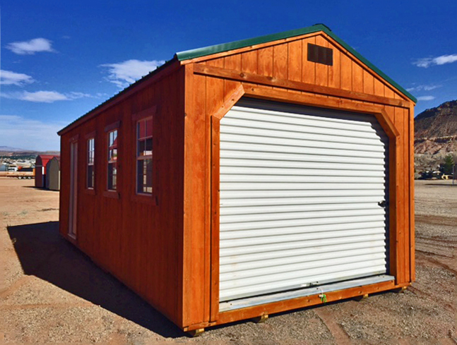 Stained Garage - Vegas Sheds