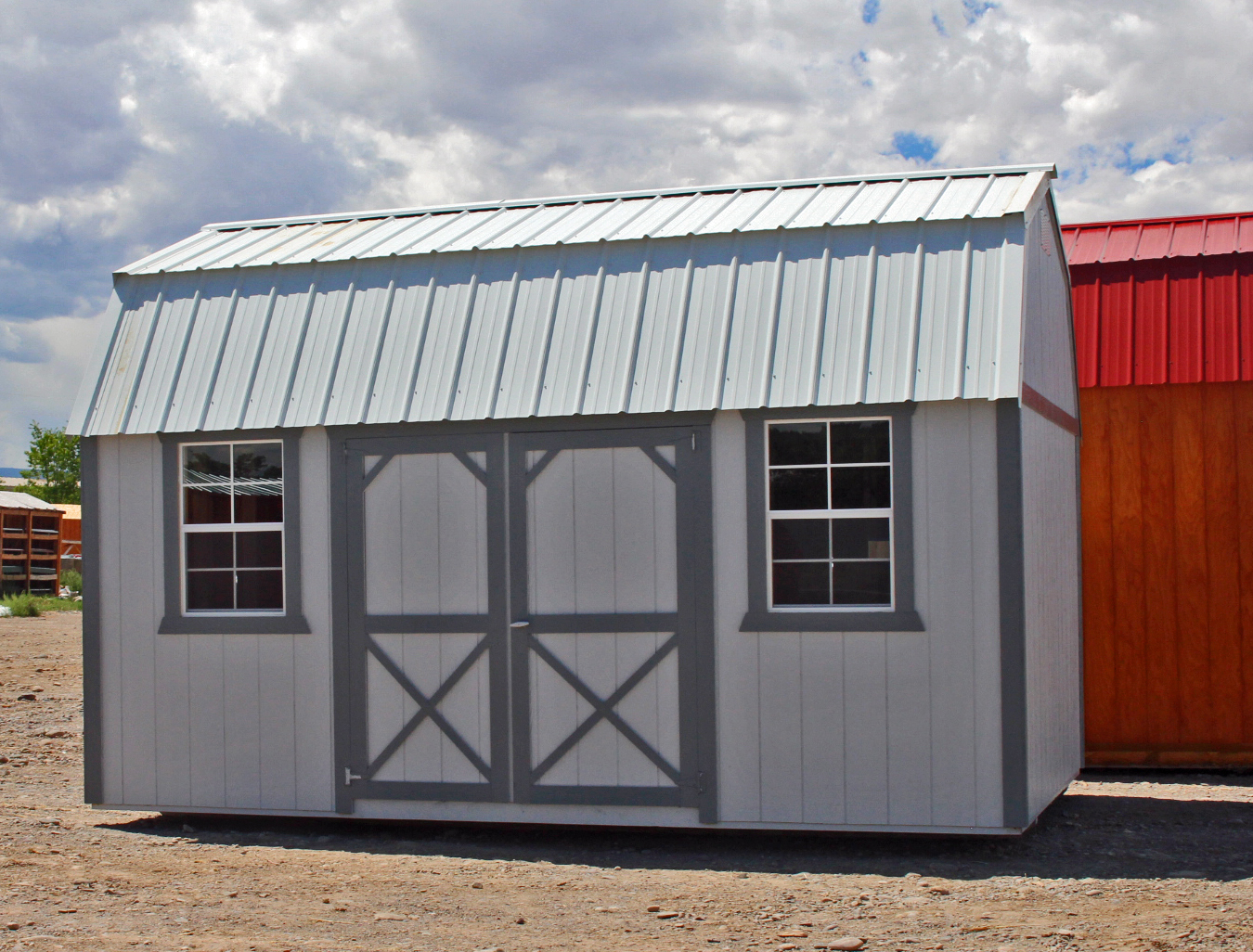 Painted Side Lofted Barn Shed - Vegas Sheds