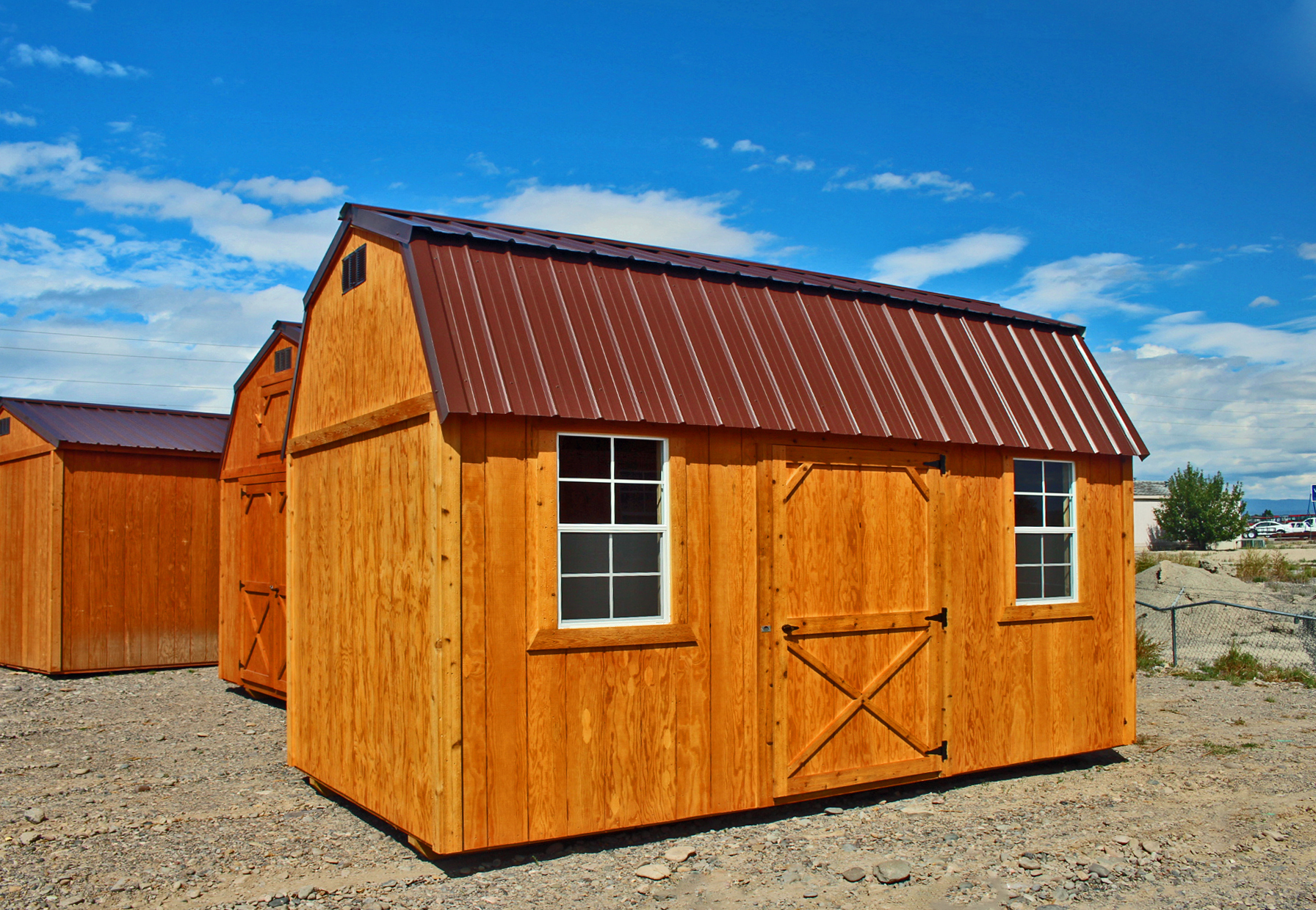 Stained Side Lofted Barn - Vegas Sheds