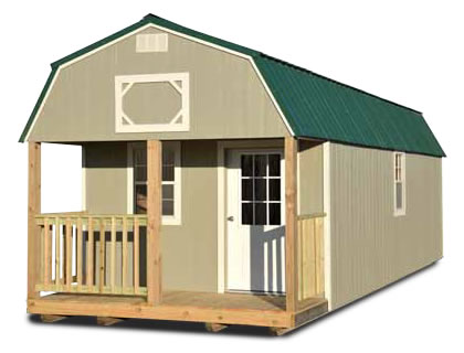 Painted Lofted Barn Cabin - Vegas Sheds