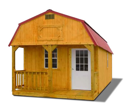 Stained Lofted Barn Cabin - Vegas Sheds