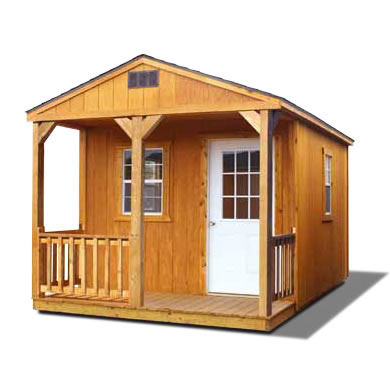 Stained Cabin Shell - Vegas Sheds