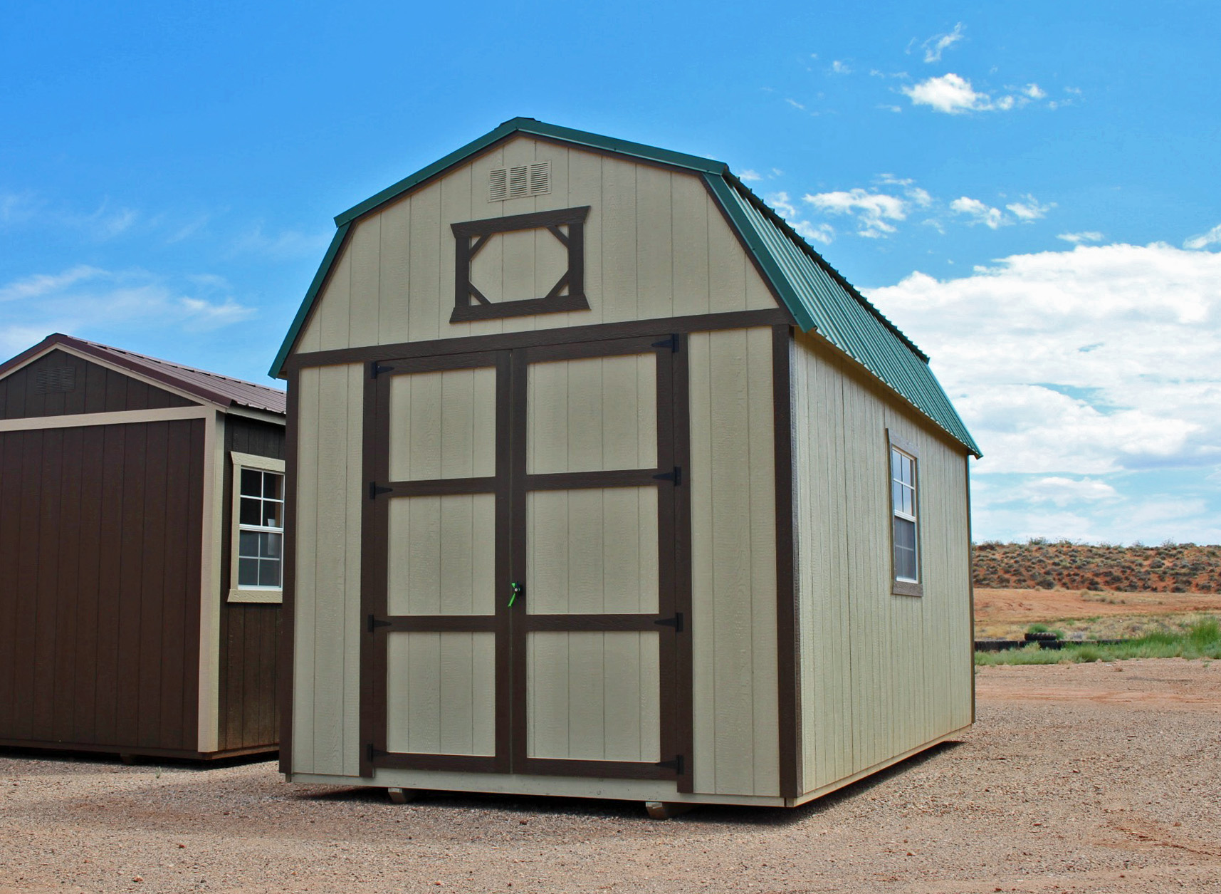 Lofted Barn with custom doors - Vegas Sheds