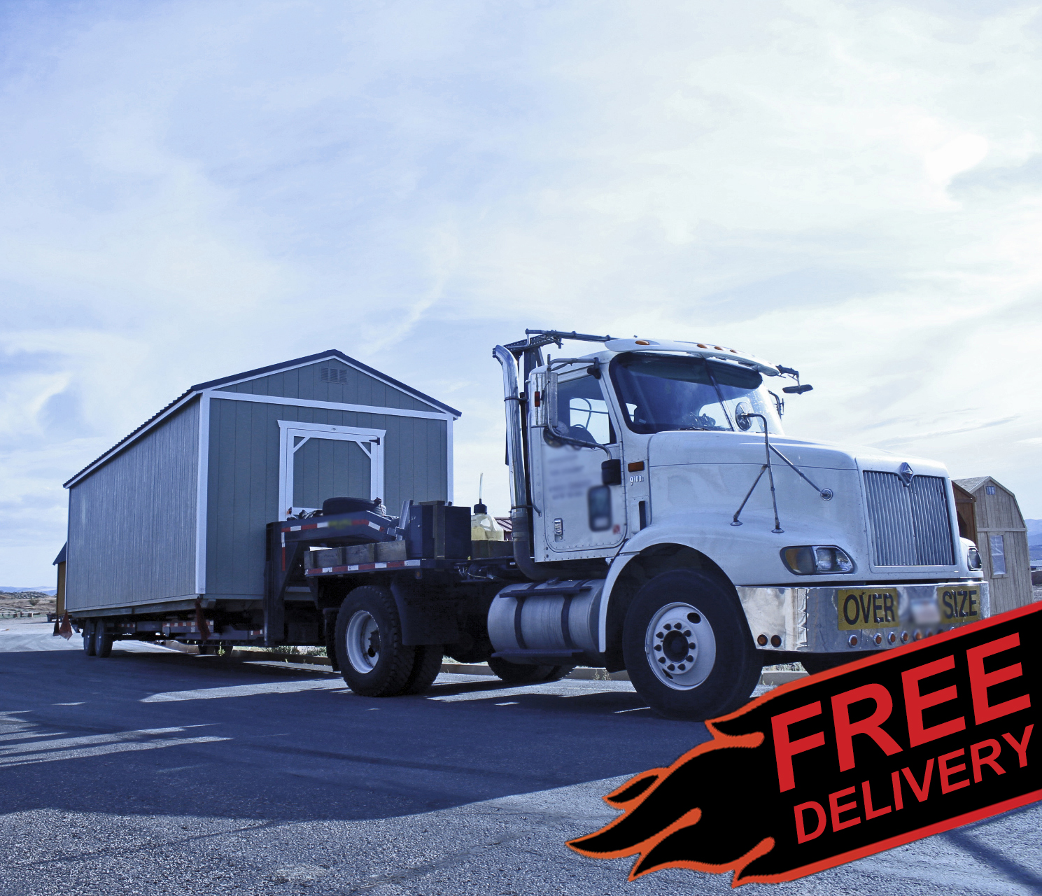Free delivery included with your Vegas Shed within 50 miles of Las Vegas.