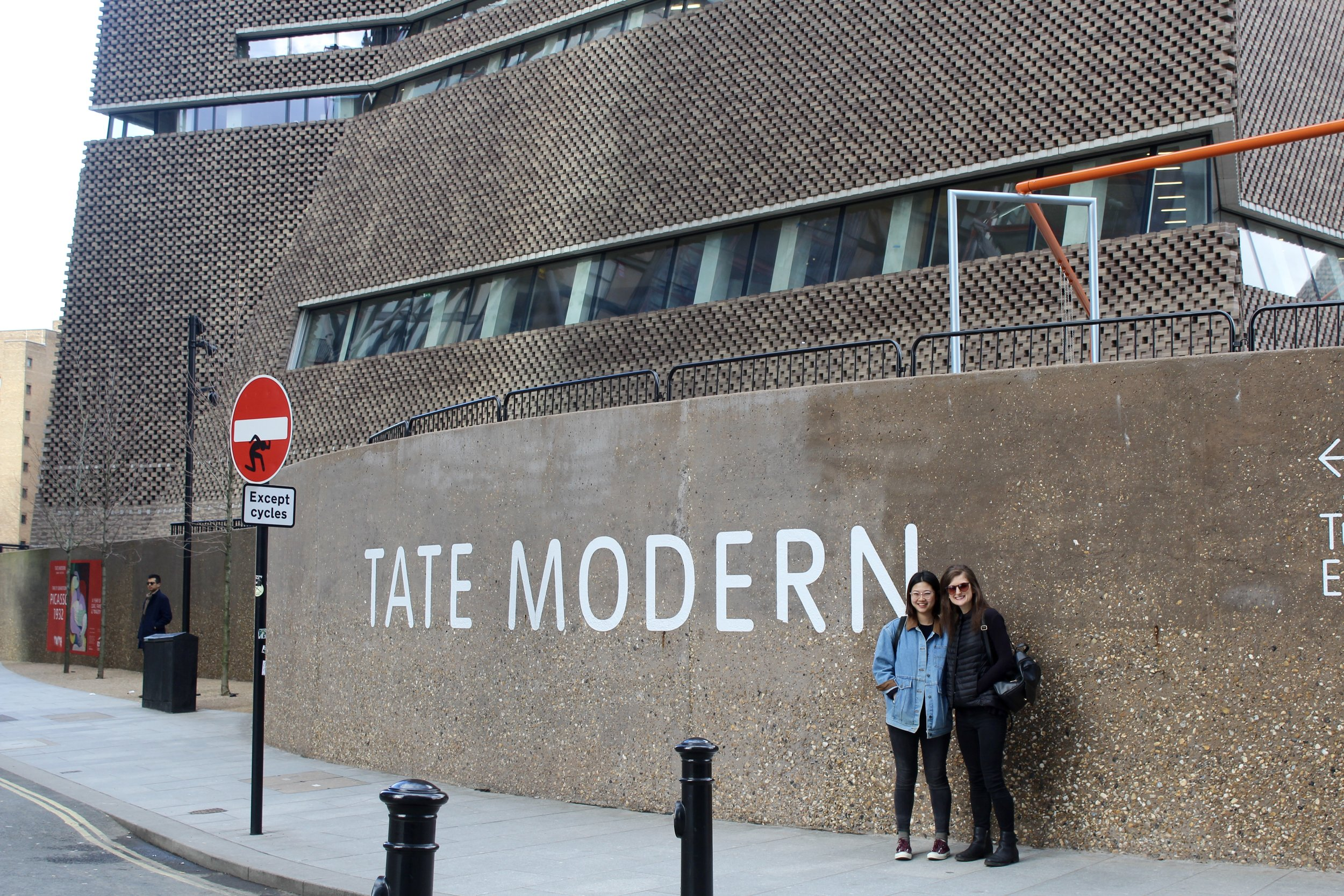 Jing and I outside of the Tate.
