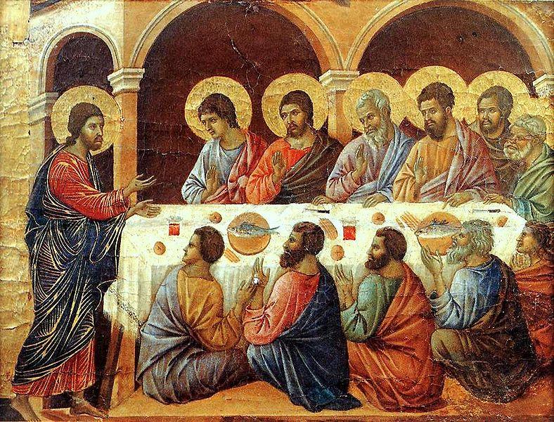The Last Supper by Maesta Duccio (1308)