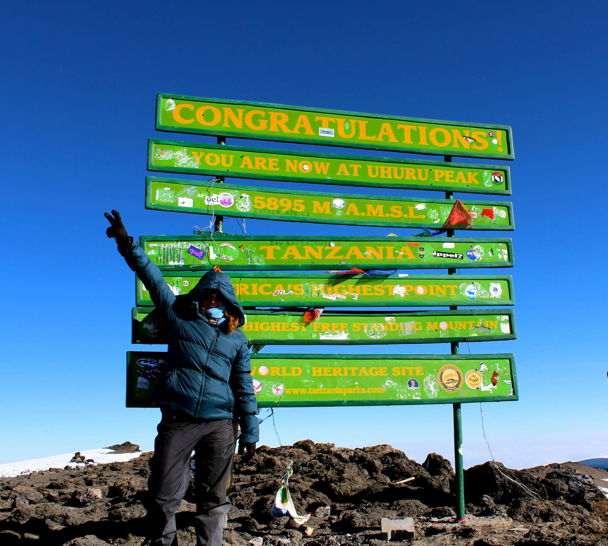 At the Summit of Mt. Kilimanjaro